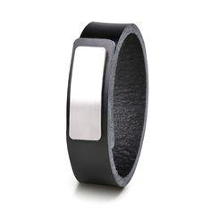 Wear Clint - Tuigleren armband (18mm / zwart) met RVS-sluiting.  Een stoer design voor mannen en vrouwen! Rvs, Ready To Wear, How To Wear, Design, Fashion, Wristlets, Moda, Capsule Wardrobe