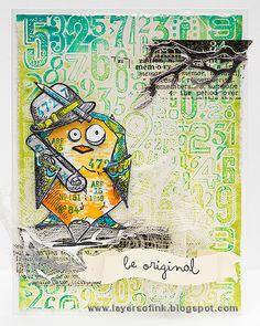 Be Original Bird Crazy Card