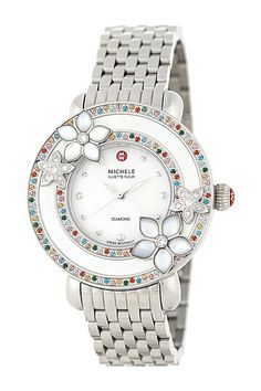Women's Cloette Stainless Steel Watch by Michele on @HauteLook