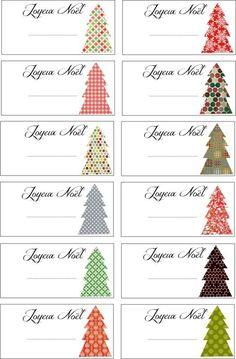 4ème jour : des petites étiquettes à imprimer pour mettre sur vos paquets cadeaux.