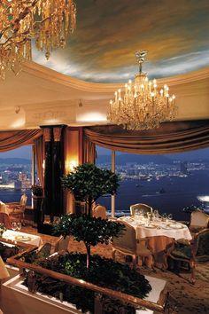 Petrus Restaurant at Shanri La Island Hong Kong