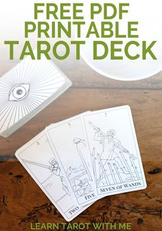 Get a free downloadable and printable PDF tarot deck from Learn Tarot With Me to begin learning the meanings and stories behind the tarot cards.