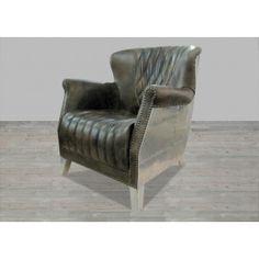 Java Black Leather Armchair #SilverCoastCompany