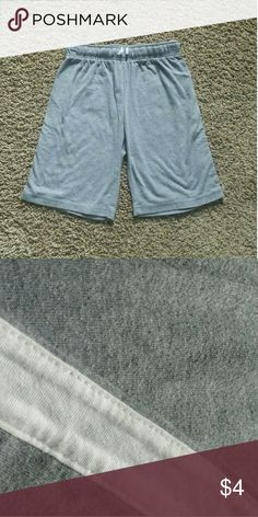 Children's Place Gray Shorts So cute goes with so much! Has a white stripe down both sides as shown in pic #2! Body: 60% Cotton, 40% Polyester, Trim: 100% Cotton Pleas feel free to make a reasonable offer! Children's Place Bottoms Shorts