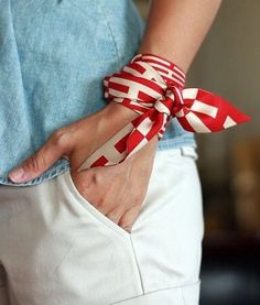 **scarf on wrist