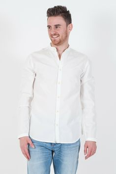 Camicia da #uomo Originals by #Jack&Jones. Collo Coreana