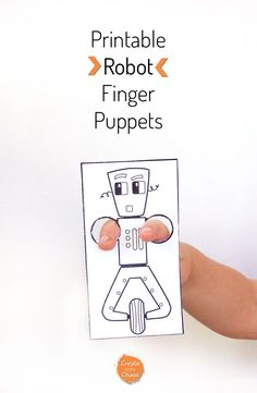 Easy kids craft - printable robot finger puppets http://www.createinthechaos.com