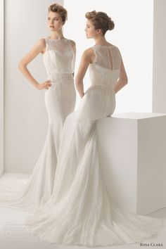 rosa-clara-wedding-dresses-2014-uriel-beaded-lace-sleeveless-gown.jpg (600×900)