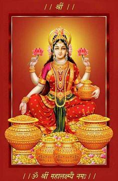 Lakshmi Devi, the Abundance of the Universe Shiva Art, Shiva Shakti, Hindu Art, Lakshmi Statue, Diwali Pooja, Lord Ganesha Paintings, Lakshmi Images, Lord Vishnu Wallpapers, Divine Mother