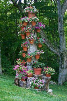 Tree of Flowerpots