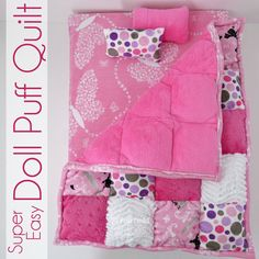Pieces by Polly: Super Easy Cuddle Doll Puff Quilt sewing tutorial
