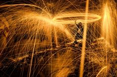 MT Photography, long exposure steel wool on fire