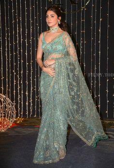 Glamorous Indian Model Anushka Sharma In Green Saree Dress Indian Style, Indian Fashion Dresses, Indian Wear, Designer Sarees Collection, Saree Collection, Designer Sarees Wedding, Designer Dresses, Latest Designer Sarees, Sari Rose