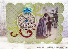 "a card made with ""Galeria Papieru"" paper"