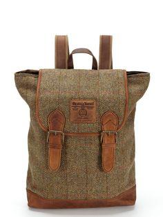 Harris Tweed Large Rucksack Bag by The British Belt Company at Gilt