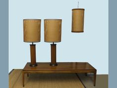 I have the table lamps... I need the hanging one!!! Pair Mid Century Table Lamps and Matching Ceiling Lamp by imodern, $435.00