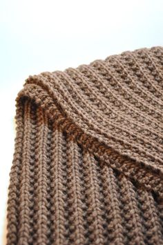 Mistake Stitch Scarf pattern by Whitney Van Nes of The Purl Bee