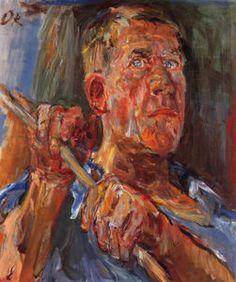 Self Portrait, Self Portrait, Oil on Canvas, - (Oskar Kokoschka)
