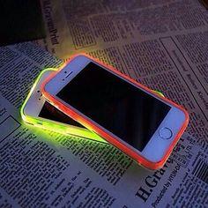 fundas para Iphone con luz fosforecente (maranja y amarilla ) #BEAUTIFUl (⊙o⊙)