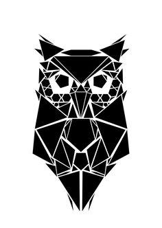 Geometric Drawing, Geometric Stencil, Geometric Wall Art, Design My Tattoo, Tatoo Designs, Tribal Animal Tattoos, Owl Tattoo Drawings, Pyrography Designs, Stencil Printing