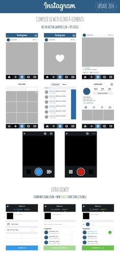 Free Instagram frame party template in Photoshop and PowerPoint ...