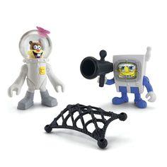 "Fisher-Price Imaginext SpongeBob SquarePants Figures - SpongeBob and Sandy - Fisher-Price - Toys ""R"" Us Online Toy Stores, Toys Online, Toys R Us, Kids Toys, Spongebob Squarepants Toys, Spongebob And Sandy, Hot Toys Iron Man, Lego Boat, Plant Zombie"