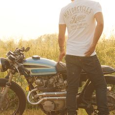 """Ignite Your Life"" Cafe Racer Inspired Premium V-Neck Tee by Iconic Moto Culture"