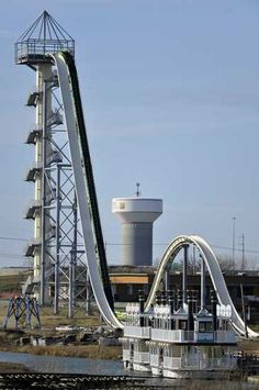 Water Parks Resorts – Verrückt World's Tallest and Fastest Water Slide.  My heart beats faster just looking at this.