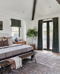 The full before and after reveal of Client What's The Story Spanish Glory, a Spanish-style home in California designed by Amber Lewis of Amber Interiors. Master Bedroom Design, Home Bedroom, Spanish Bedroom, Spanish Style Bedrooms, Spanish Style Homes, Spanish Revival, Spanish Colonial, Amber Interiors, Mediterranean Home Decor