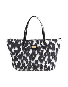 Moschino Black/White Maxi Double Handle Shopper w/Zip Closure