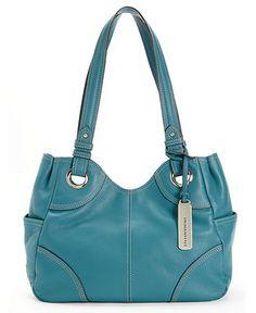 Tignanello Handbag, Pebbled Eyelet Shopper - All Handbags - Handbags & Accessories - Macy's