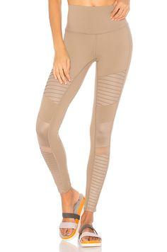 7f2615dbbee140 alo High Waist Moto Legging in Gravel & Gravel Glossy | REVOLVE Revolve  Clothing,