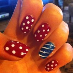 patrioticnails.quenalbertini: 4th of July Nails