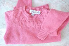 pink wool sweater / 1970s cable knit pullover by FiregypsyVintage, $39.99