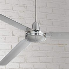 Shop online for Casa Vieja Modern Industrial Outdoor Ceiling Fan Brushed Nickel Wall Control Damp Rated for Patio Porch Ceiling Fans Without Lights, Large Ceiling Fans, Led Ceiling, Industrial Ceiling Fan, Modern Industrial, Modern Barn, Metal Fan, Steel Metal, Best Outdoor Ceiling Fans