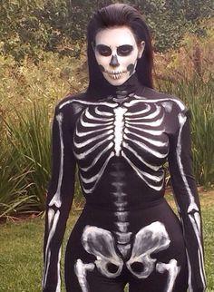 Amazon.com: Fever Women's Skeleton Costume Catsuit with Cap ...