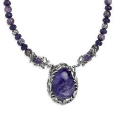 Charoite All Purple Pendant Necklace
