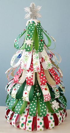 Done this before and was fun !  Ribbon Tree~This would be very cute to do with old books.