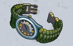 How to make a paracord watchband or bracelet...  #camping #outdoors #survival
