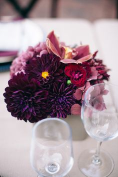 #centerpiece, #dahlia  Photography: Rizza San Agustin - rizzariz.com Event + Floral Design: Therese Jacinto Design - theresejacinto.com/  Read More: http://www.stylemepretty.com/2013/04/11/palo-alto-wedding-from-therese-jacinto-design-rizza-san-agustin/