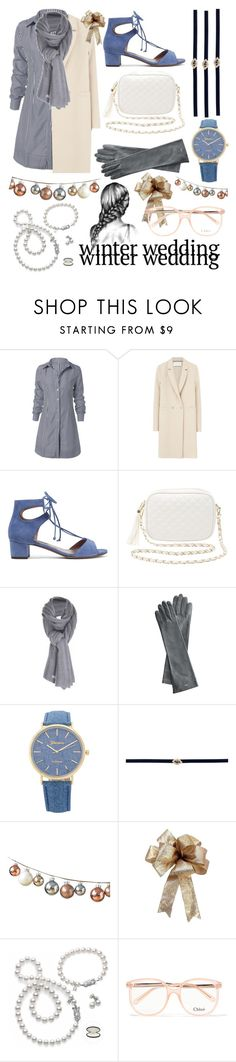 """""""Winter Wedding"""" by kaliforniakatie on Polyvore featuring Harris Wharf London, Tabitha Simmons, Charlotte Russe, Care By Me, Mark & Graham, Sydney Evan, Mikimoto and Chloé"""
