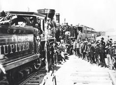 Railroads were built so that there was easy access to and from cities