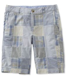 Washed Chino Bermuda Shorts, Patchwork