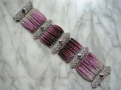 Etsy: Custom Gemstone Jewelry Pink Sapphire & Diamond bracelet by TeeceTorre
