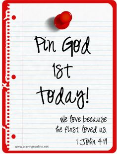 Who comes 1st in the morning? God or the re-pin? I am deciding to break a bad habit today.