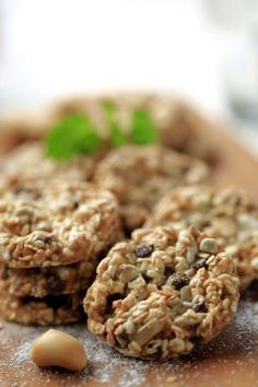 Vegan Cookie Recipe: Healthy Rolled Oats Oatmeal Nut Cookies Great for School Mornings/ Summer and Camping