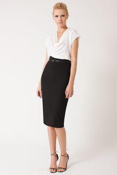 BLACK HALO | High-Waisted Pencil Skirt, Black...$230