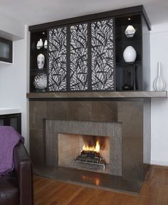 Last week we posted how to display both a t.v. and fireplace in the same room. Here are tips on how to hide the t.v.