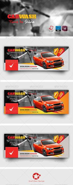 Car Wash Timeline Templates - Facebook Timeline Covers Social Media