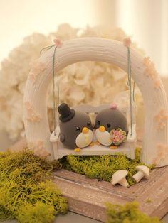 pastel de cumpleaños de pingüinos K430 por kikuike en Etsy …